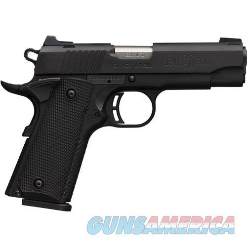"Browning Black Label Cmp Special .380Acp Fs 3.62"" Black Matte 051941492  Guns > Pistols > B Misc Pistols"