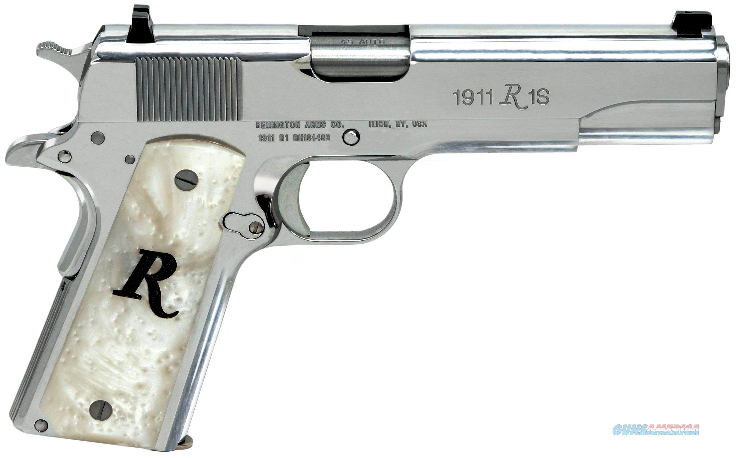 "REMINGTON ARMS FIREARMS 96304 1911 R1 SAO 45ACP 5"" HIGH POLISH SS 96304  Guns > Pistols > Remington Pistols - Modern > 1911"