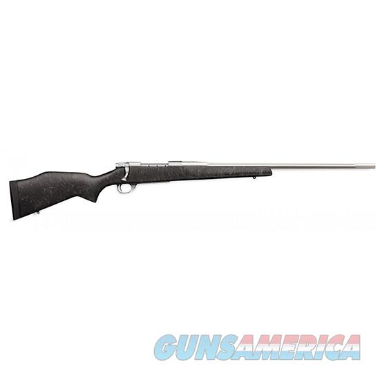 "Weatherby Vanguard Accuguard Bolt Rifle, 300 Wby, 26"" Ss Fluted #3 Hb, Grey-Blk-Web VCC300WR6O  Guns > Rifles > W Misc Rifles"
