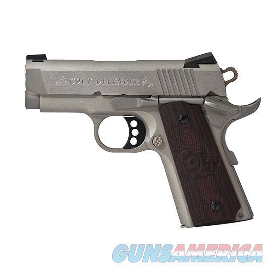 Colt Defender 45Acp 3 Ss Brushed G10 Blk Cherry O7000XE  Guns > Pistols > C Misc Pistols