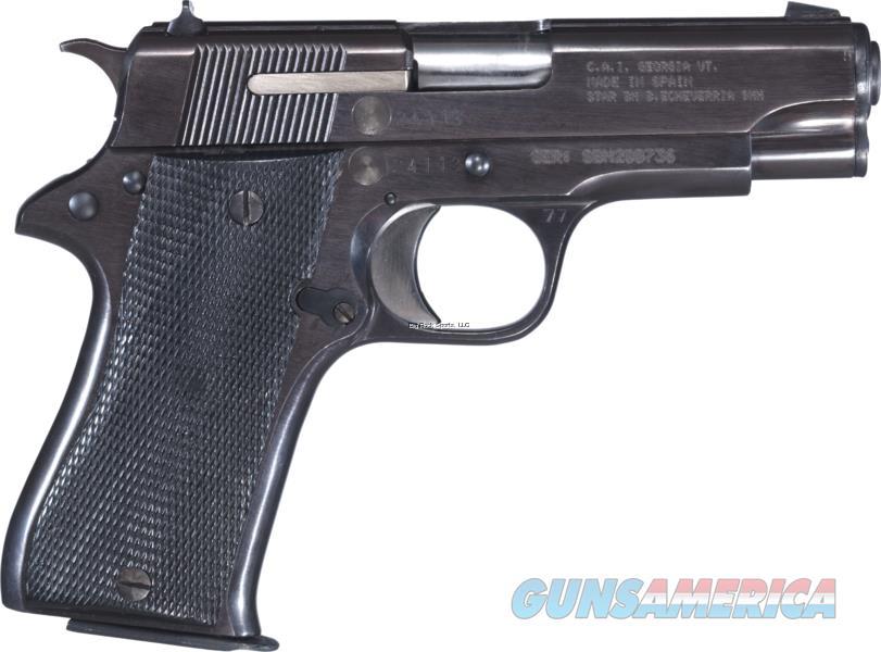 "Century Arms Star Semi Auto Pistol 9Mm, 3.77"" Black Steel Frame, Matte Blue Finish 8+1 Rd Fixed Sights Good Condition HG3764-G  Guns > Pistols > C Misc Pistols"