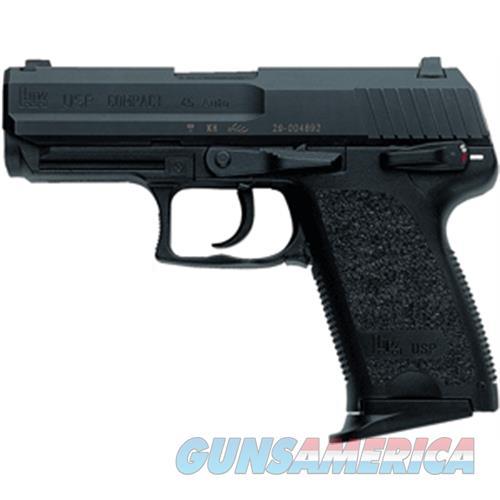"""Heckler & Koch Usp45 Compact V1 .45Acp 3.94"""" Bbl 3-Dot Fs 8Rd Black 704531-A5  Guns > Pistols > H Misc Pistols"""