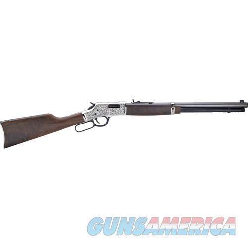"Henry H006sd Big Boy Silver Deluxe Engraved  Lever 44 Remington Magnum 20"" 10+1 American Walnut Stk Silver Receiver/Blued Barrel H006SD  Guns > Rifles > H Misc Rifles"