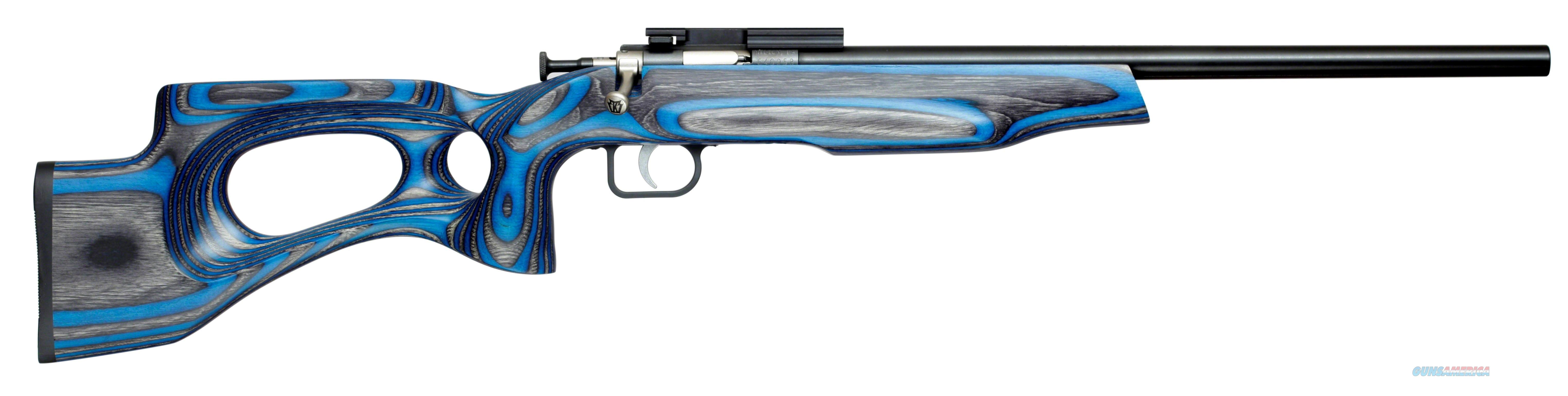 "CRICKETT, KEYSTONE YOUTH RIFLE, 22 LR, SINGLE SHOT, EZ LOADER, SCOPE MOUNT, TARGET MODEL, 16.125"" SS BBL, BLUE LAM KSA2649  Guns > Rifles > C Misc Rifles"