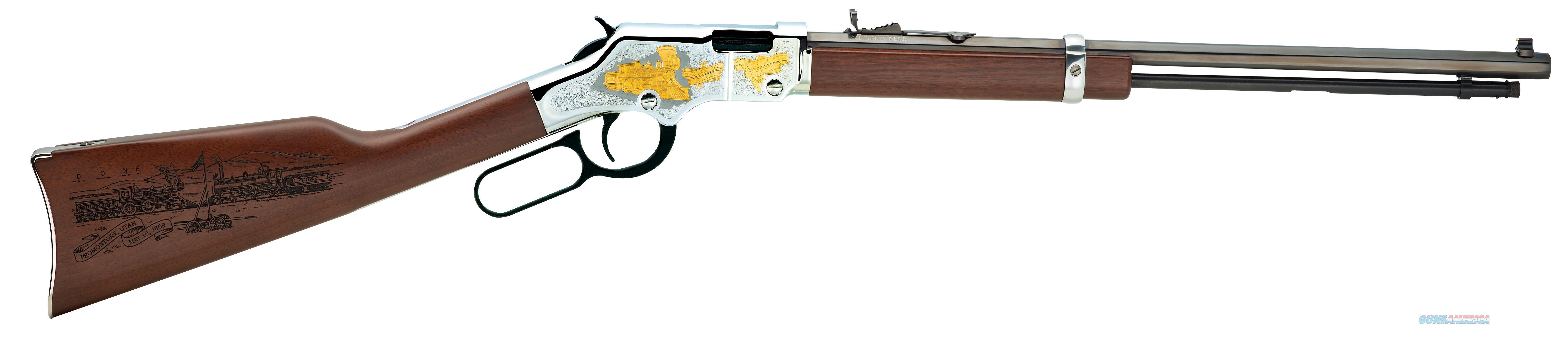 "Henry American Railroad .22S/L/Lr 20"" Octagon Engraved H004RR  Guns > Rifles > H Misc Rifles"
