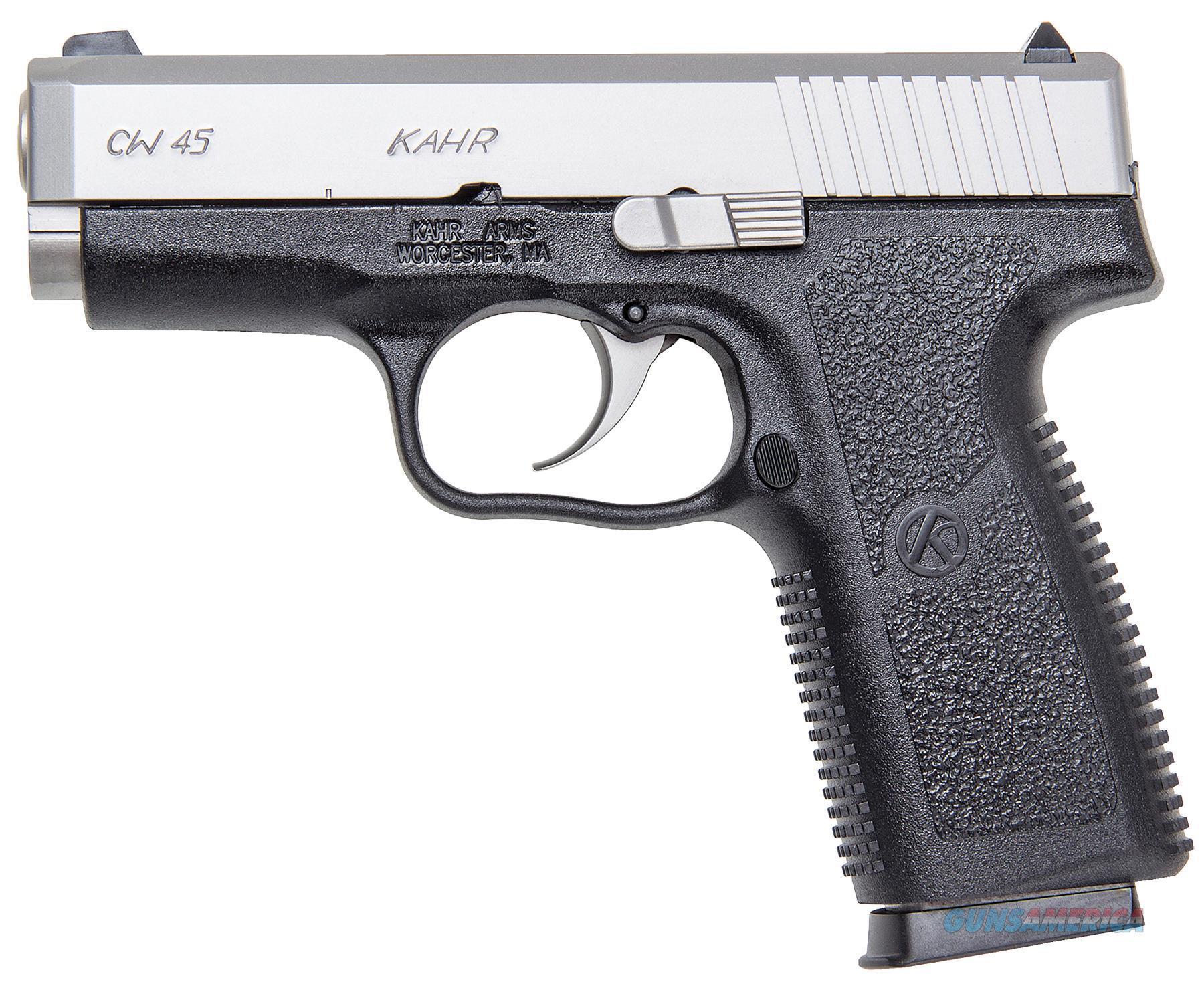 "Kahr Arms Cw4543 Cw45 Standard Dao 45Acp 3.6"" 7+1 Black Poly Grip Blk Poly Frame CW4543  Guns > Pistols > K Misc Pistols"