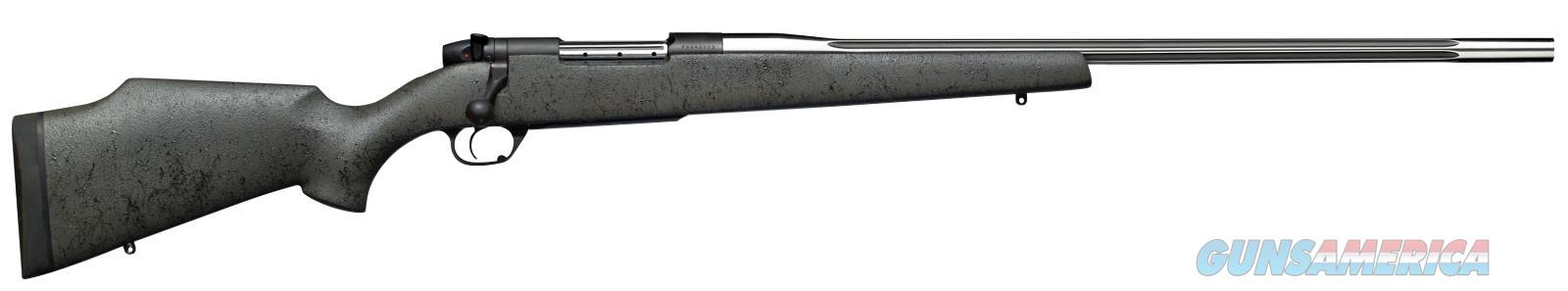 WEATHERBY MARK V 6.5-300WBY GRY BLK WEB SS FLUTED #3 MARM653WR6O  Guns > Rifles > Weatherby Rifles > Sporting