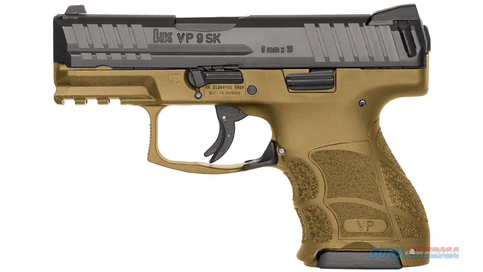 """Heckler & Koch Vp9sk Striker Fired 9Mm 3.39"""" Bbl 3-Dot Fs 2-10Rd Fde 81000095  Guns > Pistols > H Misc Pistols"""
