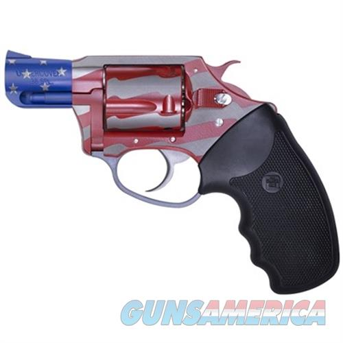"Charter Arms 23872 The Old Glory Undercover Single 38 Special 2"" 5 Black Rubber American Flag 23872  Guns > Pistols > C Misc Pistols"