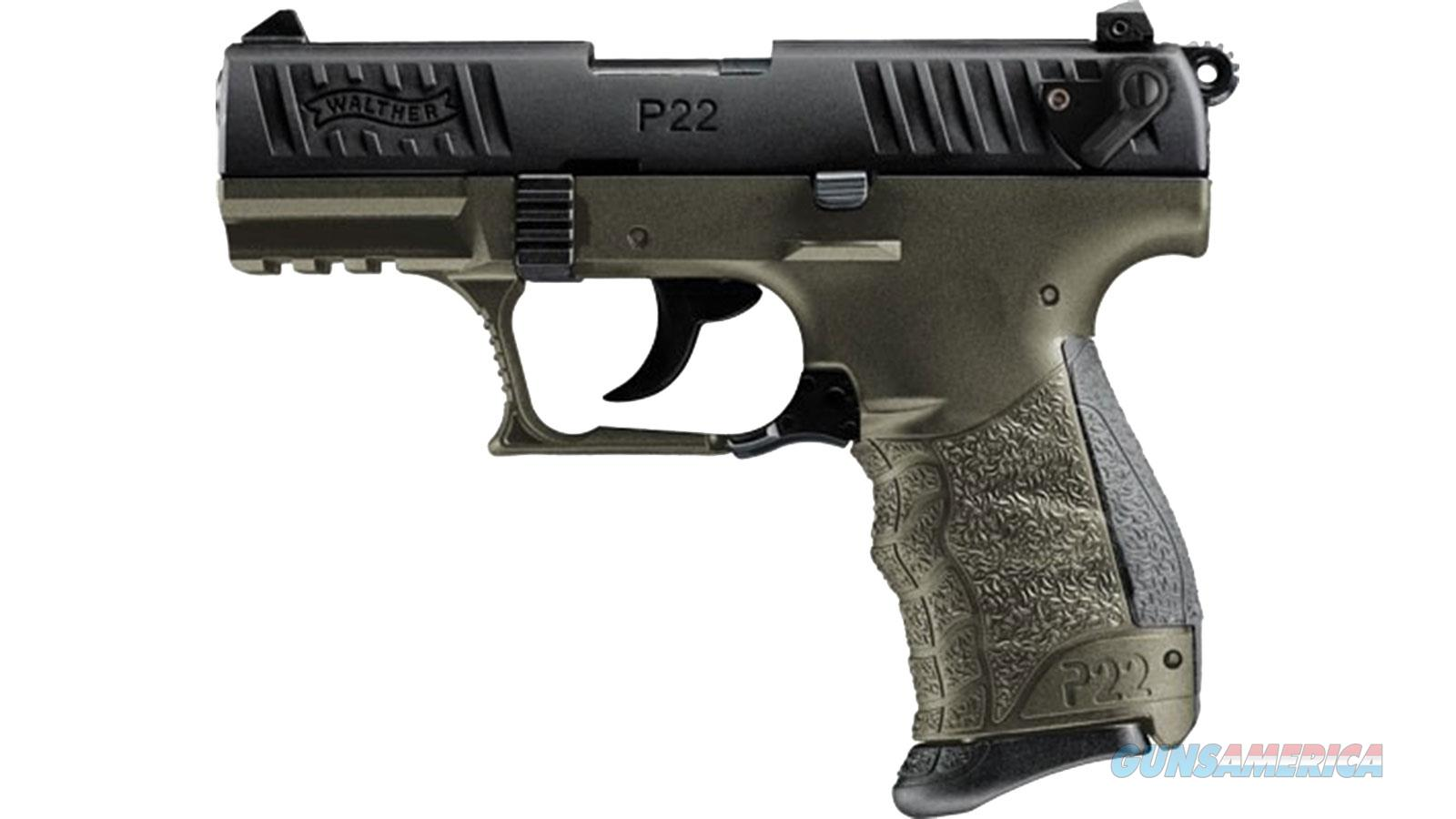 """Walther Arms P22qd Mil 22Lr 3.42"""" Od/Black 5120515  Guns > Pistols > W Misc Pistols"""
