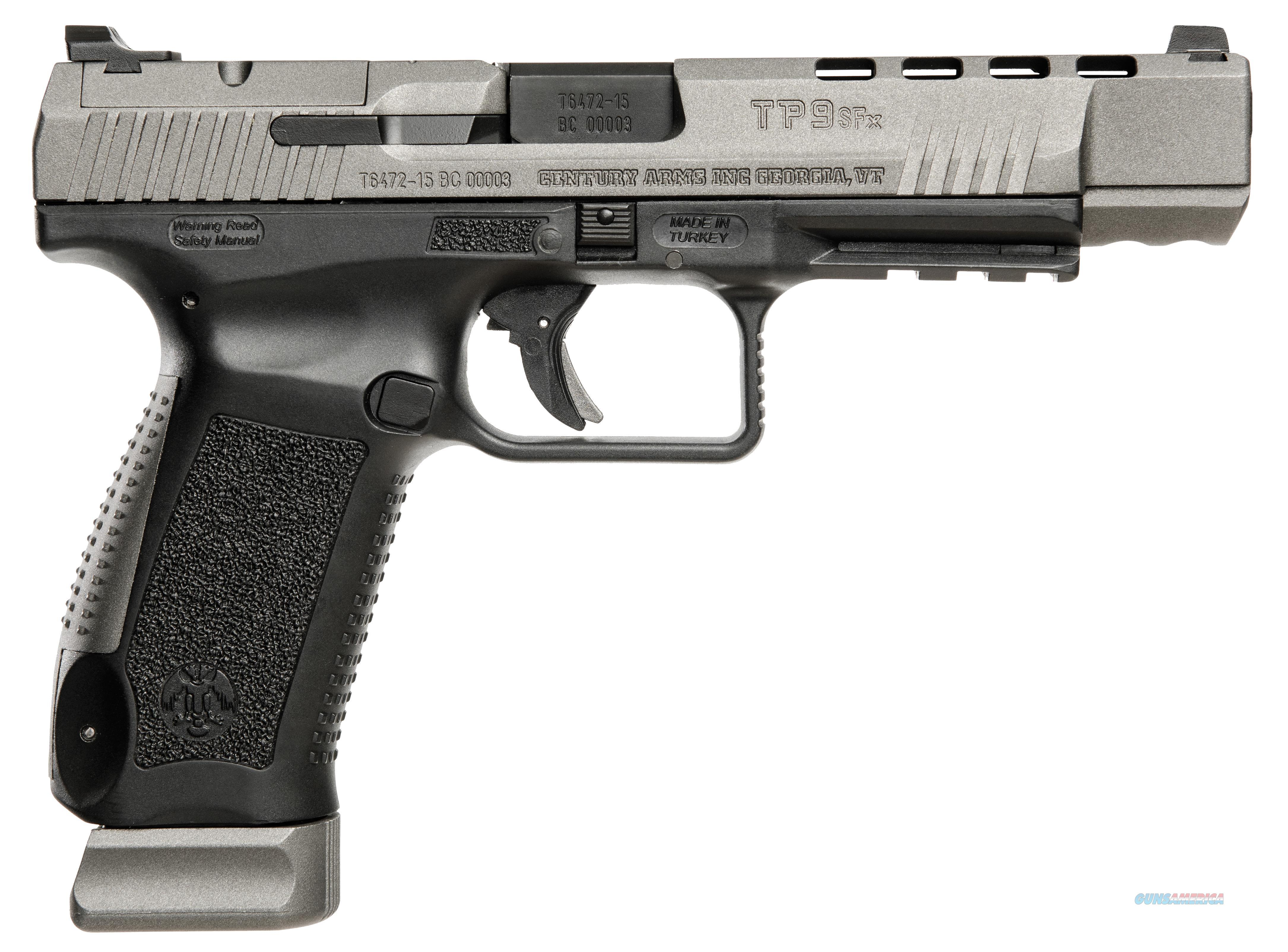 "CANIK USA TP9SFX 9MM 5.2"" 20RD HG3774G-N  Guns > Pistols > Century International Arms - Pistols > Pistols"