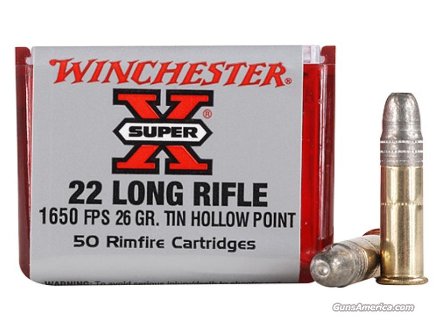 Winchester Super-X Ammunition 22 Long Rifle 26 Grain Hollow Point Lead-Free Box (250rds  Non-Guns > Ammunition