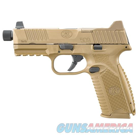 Fn Manufacturing 509 Tactical 9Mm Fde 4.5 Thrd Hns 3 10Rd 66100383  Guns > Pistols > F Misc Pistols