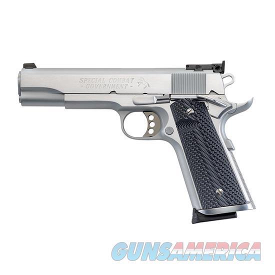 "Colt Mfg O1970cm 1911 Special Combat Government 45 Automatic Colt Pistol (Acp) Single 5"" 8+1 Black/Silver Composite Grip Stainless Steel Slide O1970CM  Guns > Pistols > C Misc Pistols"