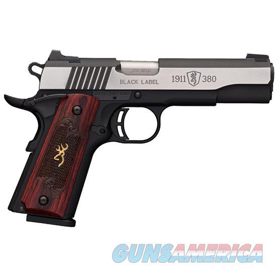 Browning 1911-380 380Acp Blk Label Medallion Pro Ns 51914492  Guns > Pistols > B Misc Pistols