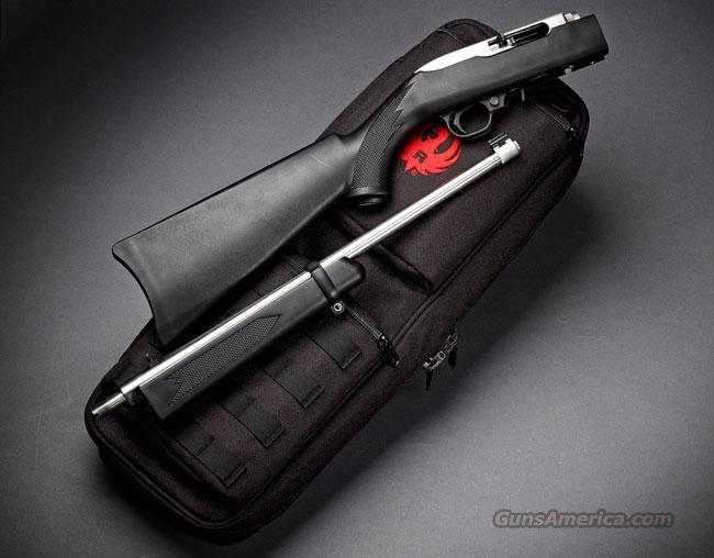RUGER 10/22 TAKEDOWN SEMI-AUTOMATIC RIFLE, STAINLESS STEEL, WITH BACK PACK  Guns > Rifles > Ruger Rifles > 10-22