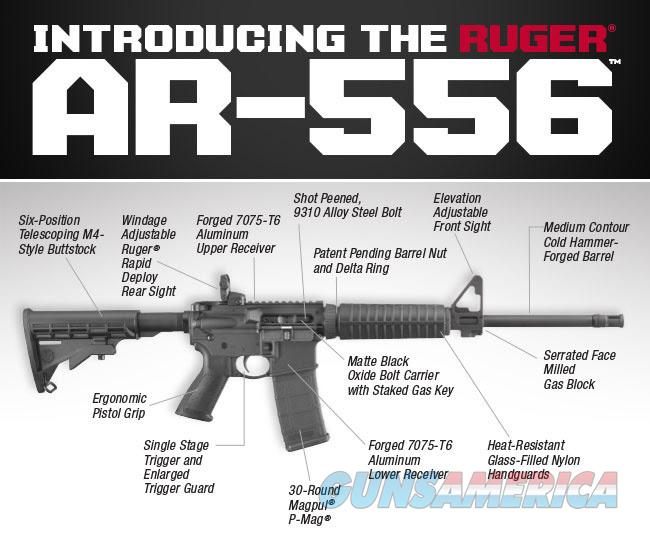 Ruger AR-556 Autoloading Rifle 5.56NATO 16.1in Black 30 Round  Guns > Rifles > Ruger Rifles > SR-556