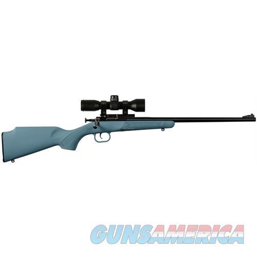 Keystone Crickett Bolt Rifle 22 Lr, Blue Syn W/Scope, Base And Mount KSA2302PKG  Guns > Rifles > K Misc Rifles