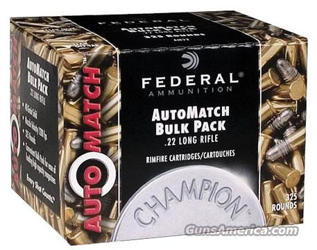 Federal AutoMatch Rimfire Ammunition AM22, 22 Long Rifle Lead 40 GR 1200 fps 3250 Rounds  Non-Guns > Ammunition