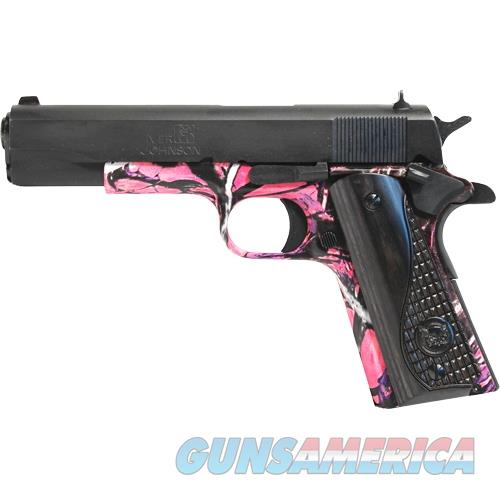 "Iver Johnson Arms Johnson 1911A1 9Mm Luger 5""Fs 8Rd Black/Muddy Girl Wood 1911A19MG  Guns > Pistols > IJ Misc Pistols"