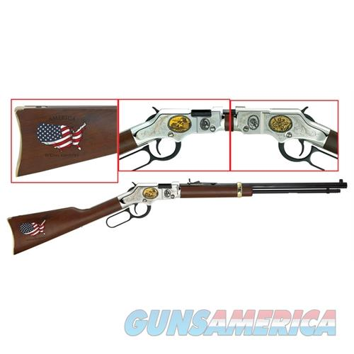 "Henry H004cm2 Golden Boy Coal Miner Tribute Ii  Lever 22 Short/Long/Long Rifle 20"" 16 Lr/21 Short American Walnut Stk Nickel Receiver/Blued Barrel H004CM2  Guns > Rifles > H Misc Rifles"