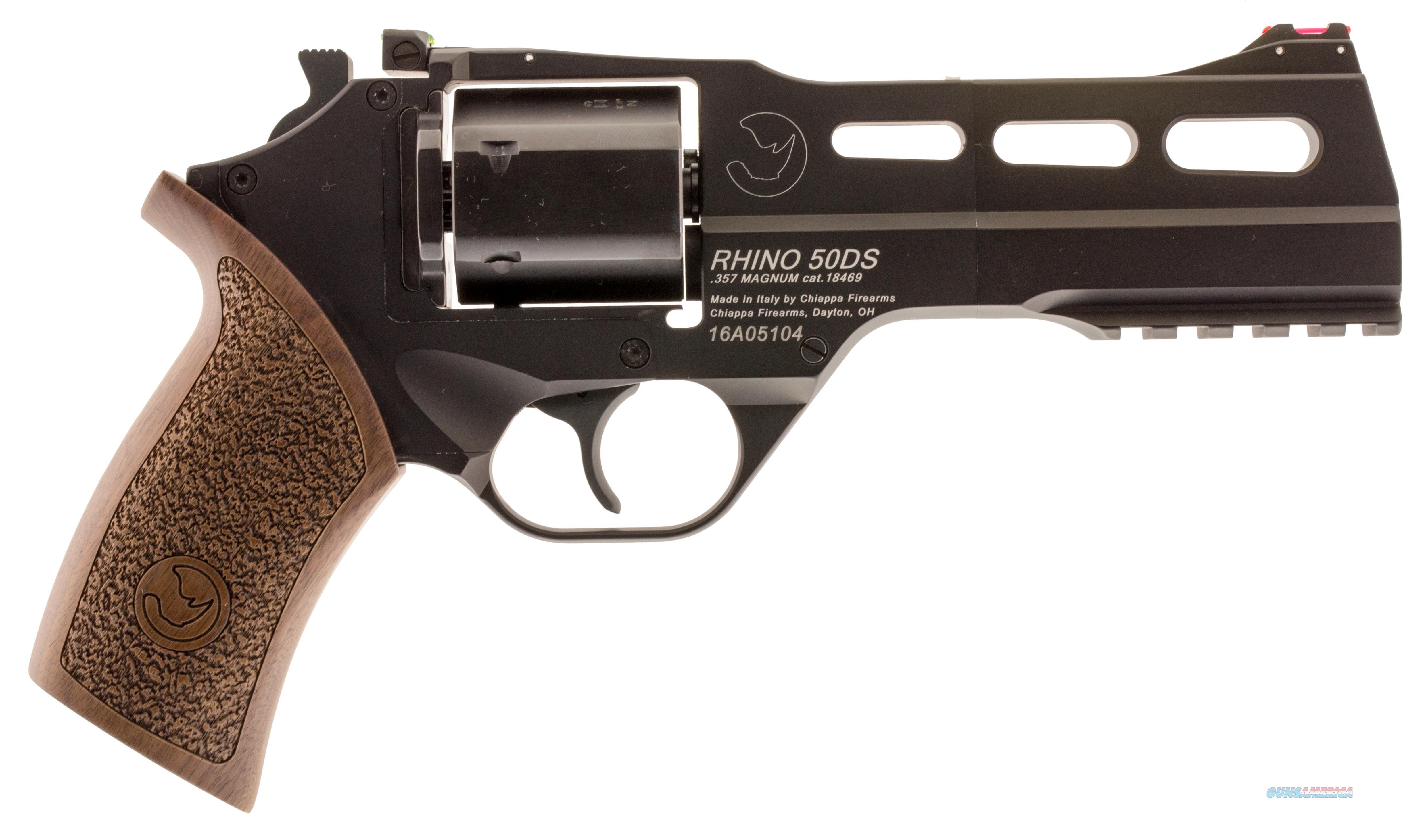 """Chiappa Firearms Rhino 50Ds .357Mag 5"""" Adj. Sight Black/Walnut 053670712157  Guns > Pistols > C Misc Pistols"""
