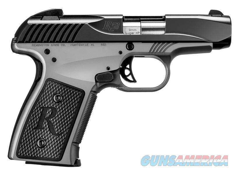 "Remington R51 Subcompact Semi-Auto Pistol, 9Mm,  3.4"" Bbl, Smoke Finish, 7+1 Rnd 96234  Guns > Pistols > R Misc Pistols"