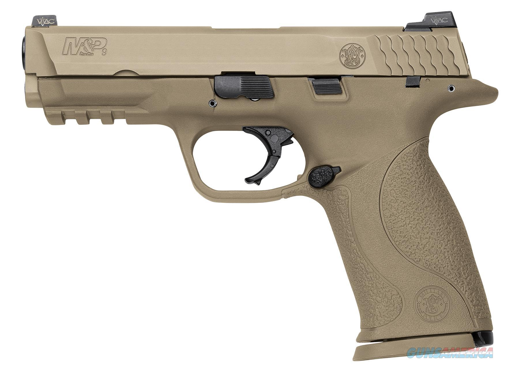 """Smith & Wesson 209921 M&P 9 Vtac Double 9Mm Luger 4.3"""" 17+1 Flat Dark Earth Interchangeable Backstrap Grip Flat Dark Earth Stainless Steel 209921  Guns > Pistols > S Misc Pistols"""