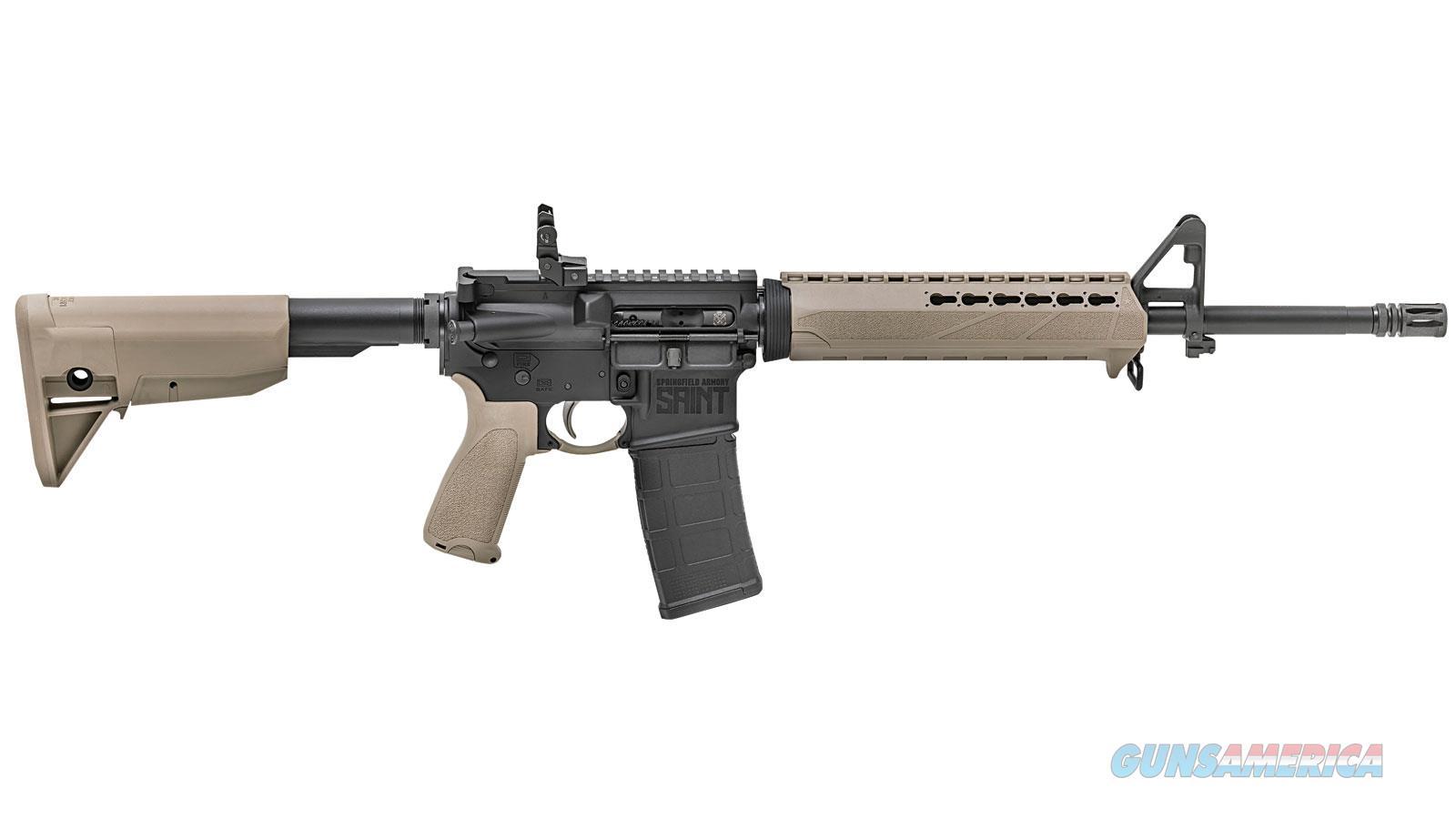 Springfield Armory Saint 5.56 16 Bravo 6Pos Stk & Km Hg Fde ST916556FDE  Guns > Rifles > S Misc Rifles
