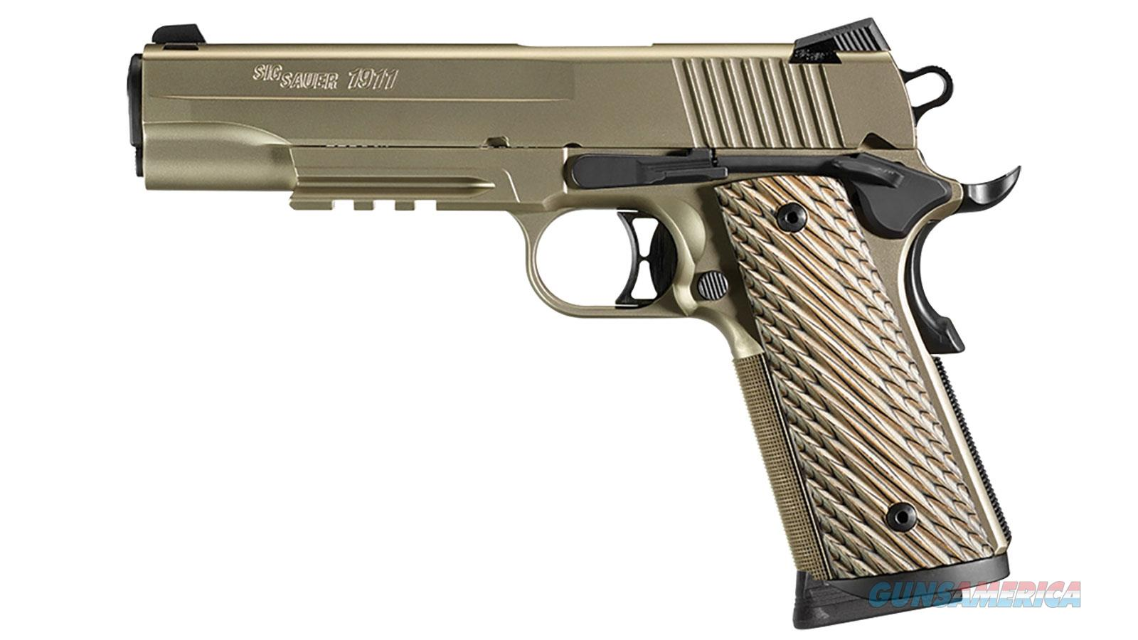 "Sig Sauer 1911R45ni 1911 Full Size Single 45 Automatic Colt Pistol (Acp) 5"" 8+1 Brown G10 Grip Nickel Pvd Stainless Steel 1911R-45-NI  Guns > Pistols > S Misc Pistols"