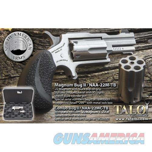 North American Arms Mini-Revolver .22Wmr/.22Lr Bug Ii S/S Matte Blk Grps Talo NAA22MCTB  Guns > Pistols > MN Misc Pistols