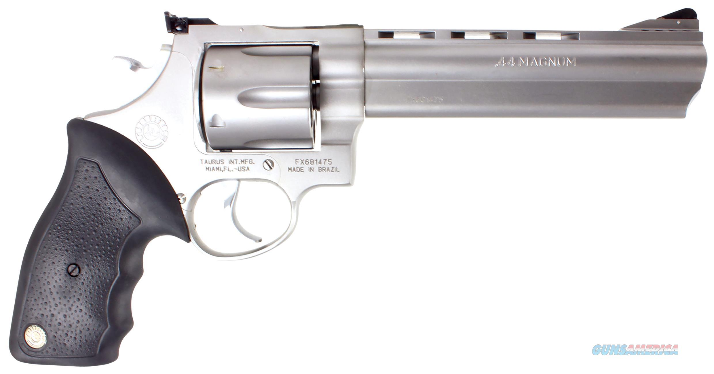 "Taurus 2440069 Model 44  44Remmag 6.5"" Ported 6Rd Rubber Grip Matte Stainless 2-440069  Guns > Pistols > TU Misc Pistols"