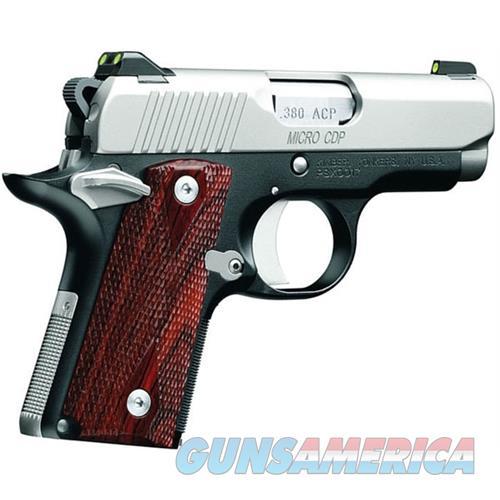 Kimber 380Acp Micro Carry Cdp 2Tone KIM3300080  Guns > Pistols > K Misc Pistols