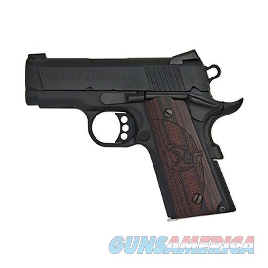 Colt Defender 9Mm 3 Blue G10 Blk Cherry Novak 8Rd O7802XE  Guns > Pistols > C Misc Pistols
