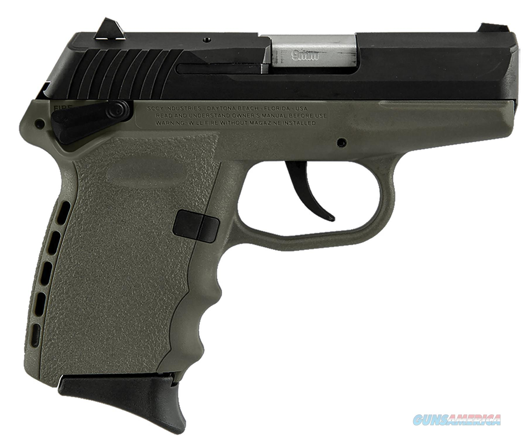 """Sccy Industries Cpx1cbde Cpx-1 Double 9Mm 3.1"""" 10+1 Flat Dark Earth Polymer Grip/Frame Grip Black Nitride Stainless Steel CPX1-CBDE  Guns > Pistols > S Misc Pistols"""