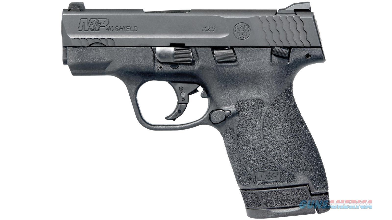 "Smith & Wesson M&P 40 Shield M2.0 Semi-Auto Pistol, 40 S&W, 3.1"" Bbl, Black, Poly Grip, 6+1/7+1 Rnd, Thumb Safety 11812  Guns > Pistols > S Misc Pistols"