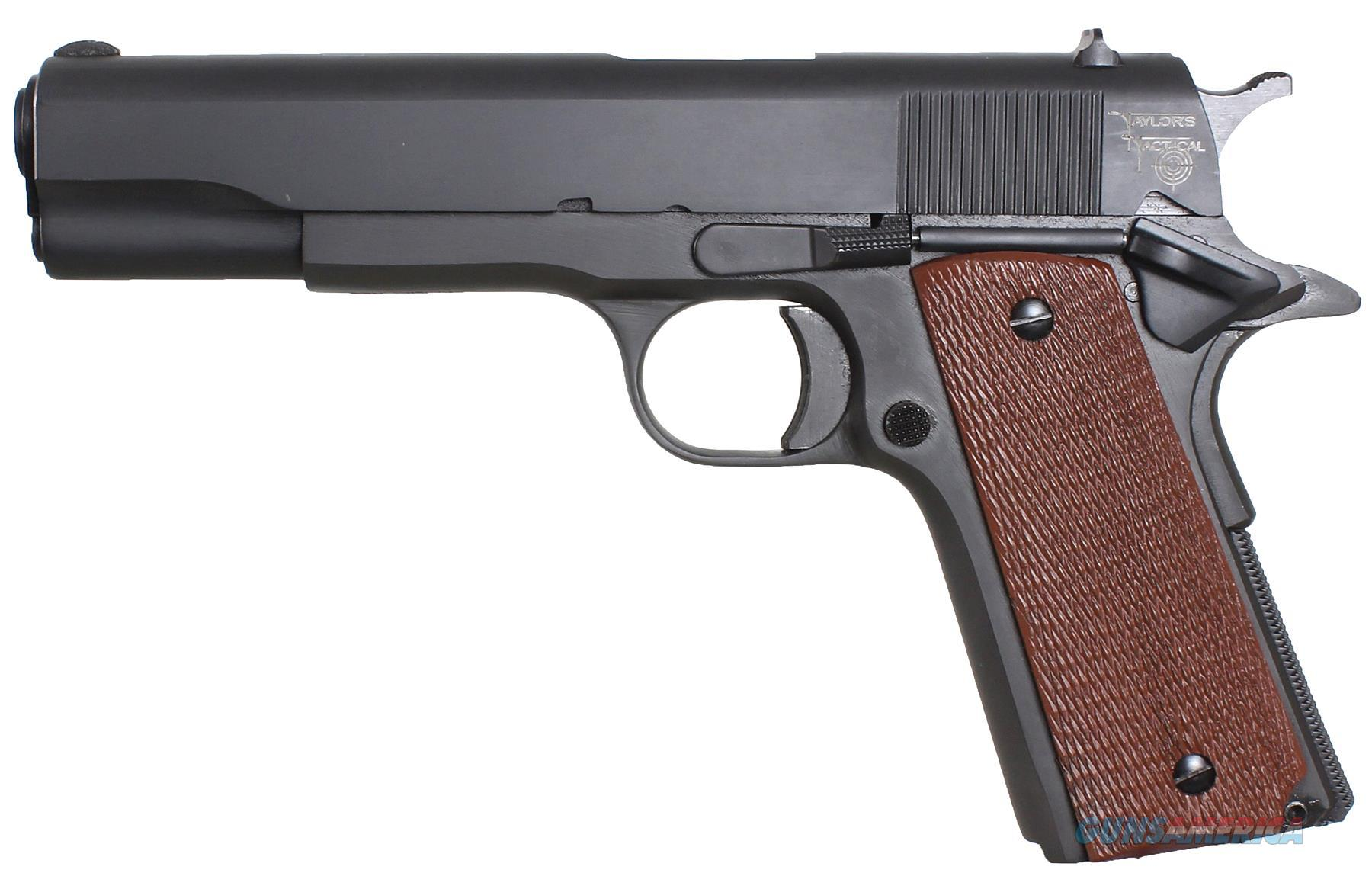 """Taylors&Co 1911Std 1911 Standard 45 Acp 5"""" 7+1 Walnut Grip Blued 1911STD  Guns > Pistols > TU Misc Pistols"""