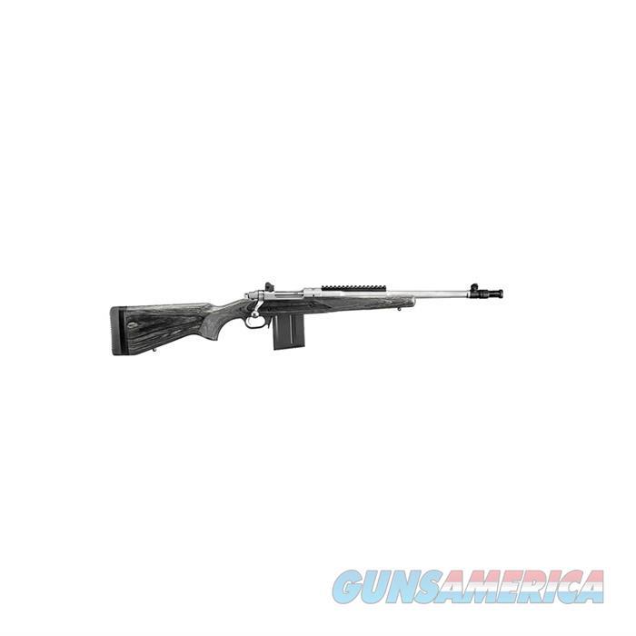 Ruger Gunsite Scout Bolt Action Rifle 5.56 Nato, Rh, 16.1 In, Matte S/S, Wood Stk, 10+1 Rnd, Standard Trgr 6825  Guns > Rifles > R Misc Rifles