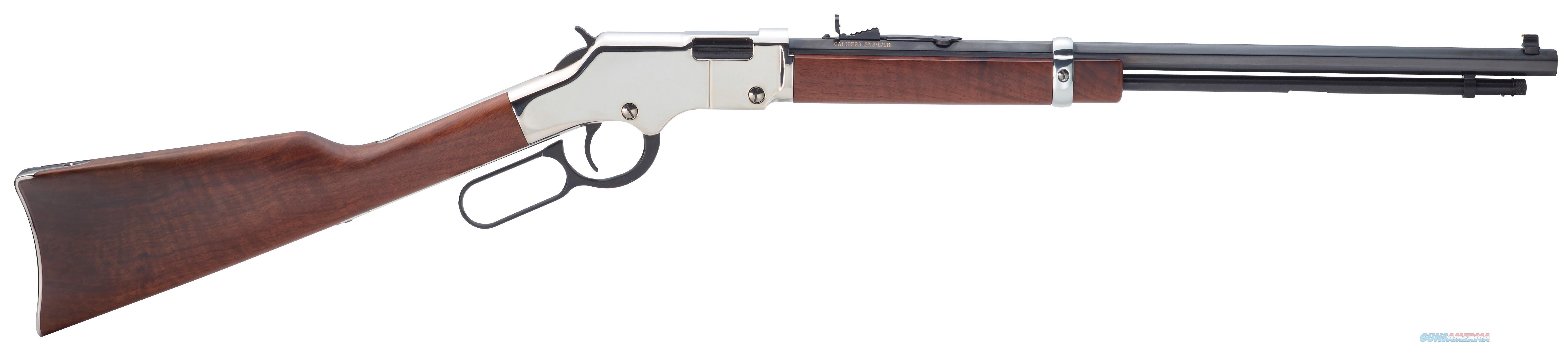 "Henry H004sm Silver Boy 22 Wmr Lever 22 Winchester Magnum Rimfire (Wmr) 20"" 12+1 American Walnut Stk Blued Barrel/Nickel Receiver H004SM  Guns > Rifles > H Misc Rifles"