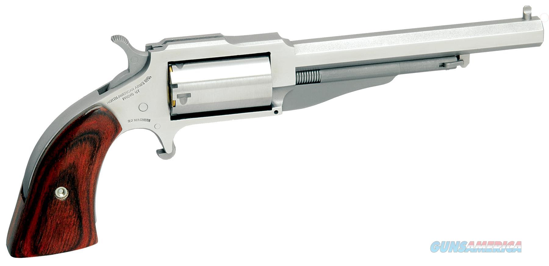 "Naa 18604 1860 The Earl 4"" Single 22 Winchester Magnum Rimfire (Wmr) 4"" 5 Wood Stainless NAA-1860-4  Guns > Pistols > MN Misc Pistols"