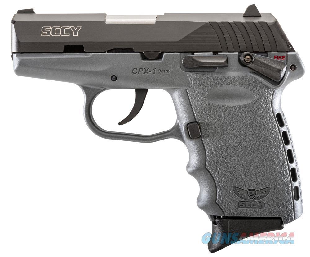 Sccy Industries Cpx1-Cb Pistol Dao 9Mm 10Rd Black/Sniper Gray Safety CPX 1CBSG  Guns > Pistols > S Misc Pistols
