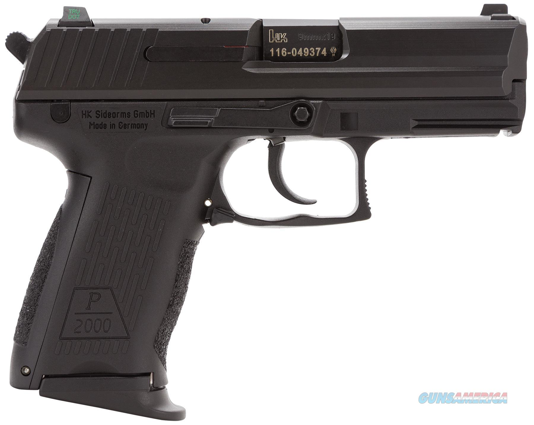 "HK 709203LEA5 P2000 V3 3MAGS DA/SA 9MM 3.7"" 13+1 INTERCHANGEABLE BACKSTRAP BLUED 709203LEA5  Guns > Pistols > Heckler & Koch Pistols > Polymer Frame"