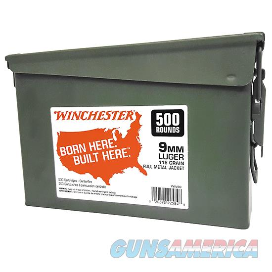 Winchester Ammo 9Mm 115Gr Fmj 500Rd Can WW9C  Guns > Rifles > W Misc Rifles