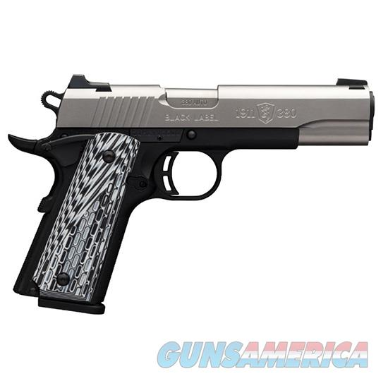 Browning 1911-380 Blk Label Pro Ss 380Acp Fs 4.25 051922492  Guns > Pistols > B Misc Pistols