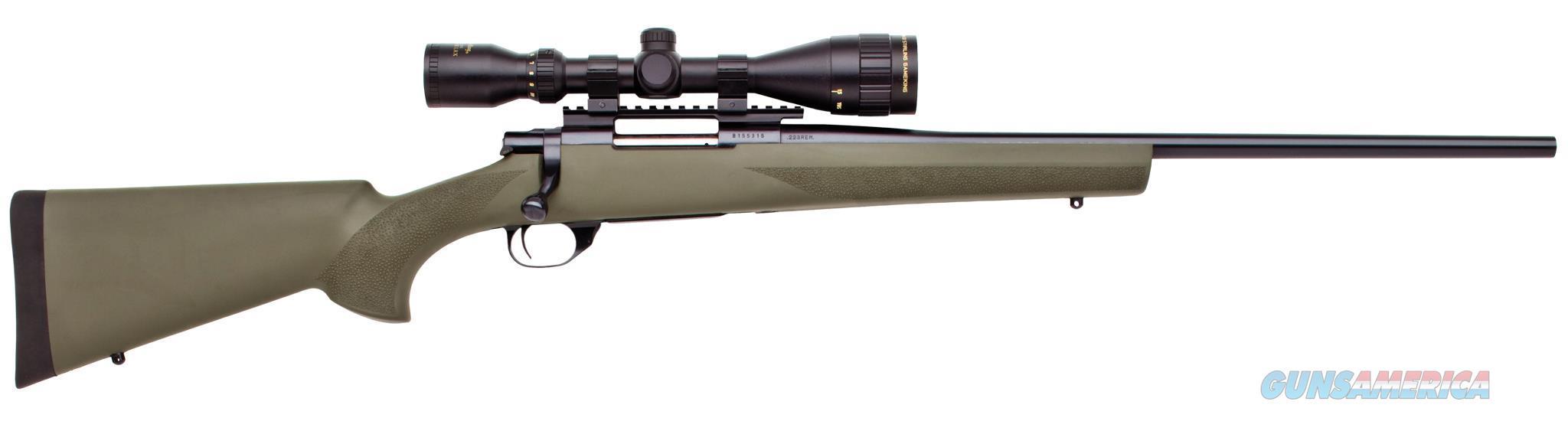 "Howa Hgk60208+ Hogue Gameking Scope Package Bolt 223 Remington 22"" 5+1 Hogue Overmolded Green Stk Blued HGK60208  Guns > Rifles > L Misc Rifles"