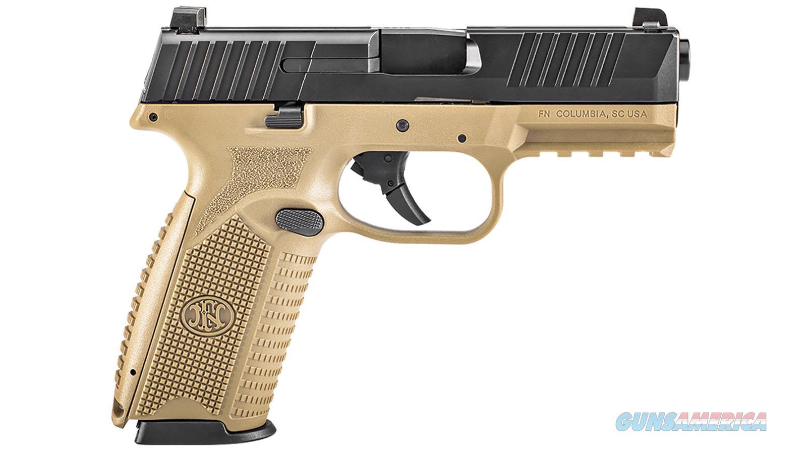 Fn America 509 9Mm Luger 10-Shot Fde Frame/Black Slide 66100358  Guns > Pistols > F Misc Pistols