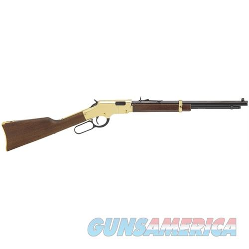 "Henry H004y Golden Boy Youth Lever 22 Short/Long/Long Rifle 16.25"" 12Lr/17L/18Short American Walnut Stk Blued Barrel/Brass Receiver H004Y  Guns > Rifles > H Misc Rifles"