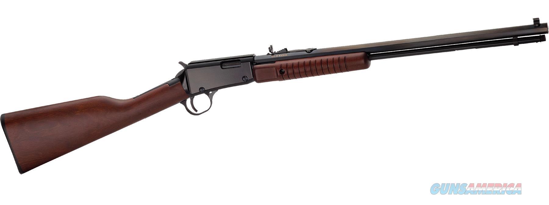 "Henry H003tm Pump  22 Winchester Magnum Rimfire (Wmr) 20.5"" 12+1 American Walnut Stk Blued H003TM  Guns > Rifles > H Misc Rifles"