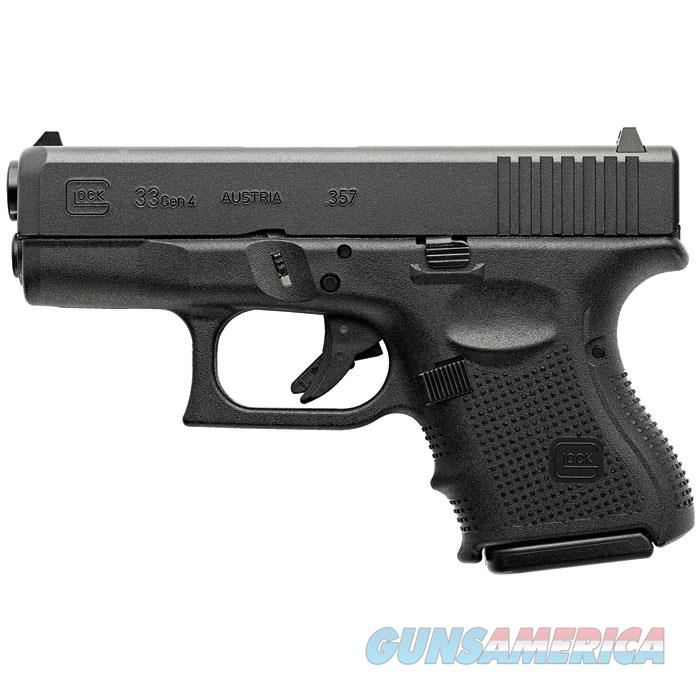 "Glock Pg3350201 G33 Gen 4 Double 357 Sig 3.42"" 9+1 Black Interchangeable Backstrap Grip Black PG3350201  Guns > Pistols > G Misc Pistols"