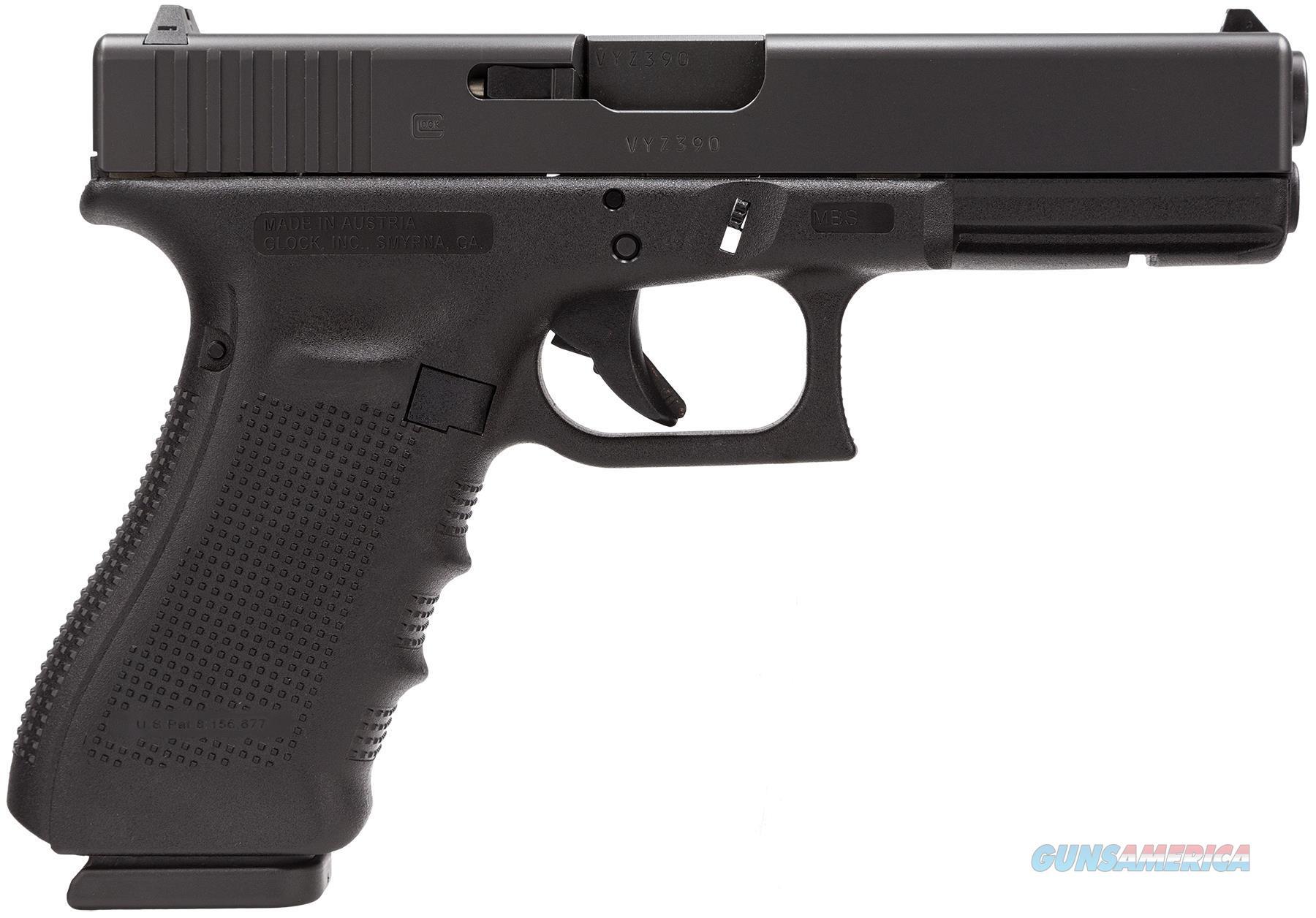 "Glock Pg2250203 G22 Gen 4 Double 40 Smith & Wesson (S&W) 4.48"" 15+1 Black Interchangeable Backstrap Grip Black PG2250203  Guns > Pistols > G Misc Pistols"